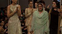 Rape survivor takes to Pakistan catwalk
