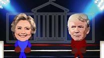 अमरीकी राष्ट्रपति चुनाव में हिलेरी क्लिंटन और डोनाल्ड ट्रंप के बीच  कांटे की टक्कर.