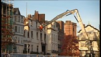 Royal Clarence Hotel in Exeter is demolished after fire