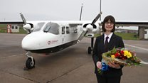 Air service welcomes millionth passenger