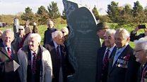 Duke unveils monument to WW2 'Guinea Pigs'