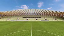 View from the centre spot of FGR's proposed stadium