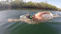 FOR SATURDAY Swimmer attempts to swim the Atlantic Ocean