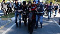 HDP'ye destek gösterilerine müdahale