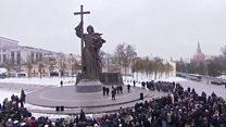 پرده برداری از مجسمه ولادیمیر کبیر در مسکو