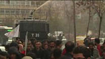 Water cannon blasts Istanbul protesters