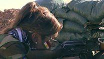 زنان کرد ایرانی در جبهه نبرد با داعش