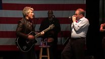 Tim Kaine jams with Jon Bon Jovi