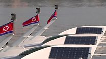 عبارات تعمل بالطاقة الشمسية في كوريا الشمالية