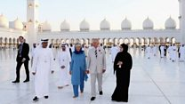 Prince Charles visits UAE mosque