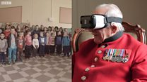 WWII veteran uses virtual reality to return to the town which he helped liberate in 1944