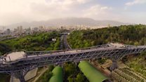 پل طبیعت تهران: محل گذر و توقف
