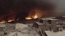 Nuvem tóxica: Estado Islâmico queima poços de petróleo na batalha por Mossul