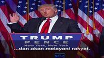 Trump: Kemenangan untuk rakyat dari berbagai latar belakang agama dan ras