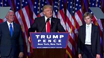 سخرانی اعلام پیروزی دونالد ترامپ در انتخابات