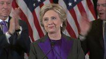 El discurso de Hillary Clinton al aceptar su derrota en las elecciones de EE.UU.