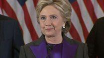【米政権交代】クリントン氏「ガラスの天井は近いうちに」 女性や少女たちを応援