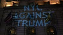 Thousands protest over Trump win