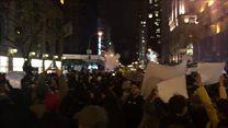 العشرات يحتجون في نيويورك على نتائج الانتخابات الرئاسية