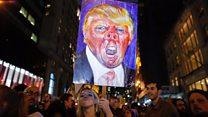 Las multitudinarias protestas en todo EE.UU. que provocó el triunfo de Trump en las elecciones