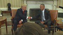Трамп встретился с Обамой в Белом доме