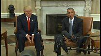 【米政権交代】トランプ氏、ホワイトハウスでオバマ氏を称賛