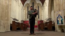 2,000 poppies fall from church roof