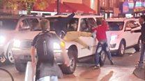 Столкновения демонстрантов с полицией в Орегоне
