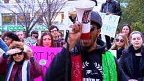 الولايت المتحدة: مظاهرات ضد الرئيس المنتخب دونالد ترامب