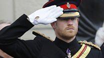Prince Harry marks Armistice Day