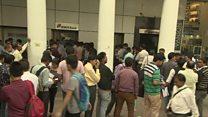 အိန္ဒိယ ဘဏ်တွေမှာ ငွေလဲဖို့ လူတွေတန်းစီ