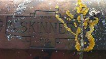 World War One graffiti soldiers traced