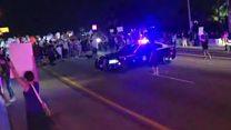 Anti-Trump rally stops traffic in Miami