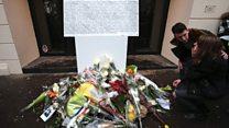 Plaques unveiled to mark Paris attacks