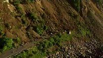 Aerial footage of New Zealand quake damage