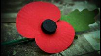 11月に英国人が胸にする赤い花 戦没者を追悼し