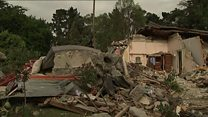 Damage after New Zealand quake