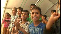 イラク・モスルを逃れた子供たちを癒すために