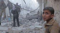 """بالفيديو: """"غارات جديدة"""" على حلب"""