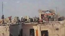 Mother films from Aleppo rooftop