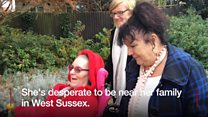 A disabled woman living in Gloucester is fighting to move out of the county  to be nearer her family.