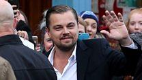 Leonardo DiCaprio arrives in Edinburgh