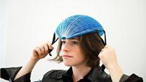 The designer of the paper bike helmet