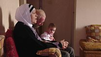 لاجئون من سوريا في غزة