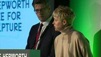 Helen Marten accepts Hepworth Prize