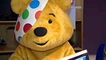 Pudsey pops into the Radio Ulster studio
