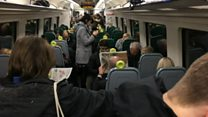 Rail passengers 'packed in like cattle'