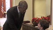 The six-year-old who met President Obama