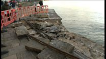 Storm Angus damage at Swanage