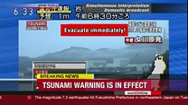 Tsunami warning: 'Evacuate immediately'